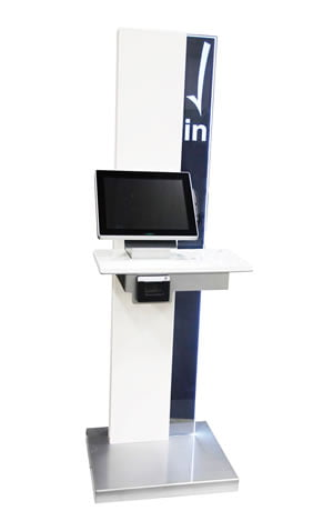 Patient registration and check-in kiosk at Collins Vision